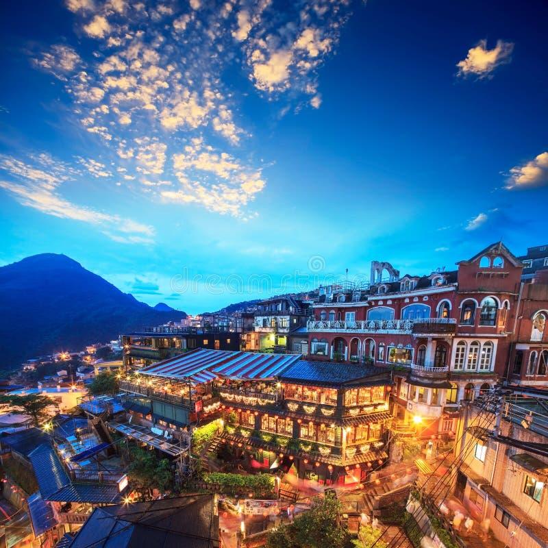 Zboczy teahouses w Jiufen, Tajwan obrazy royalty free