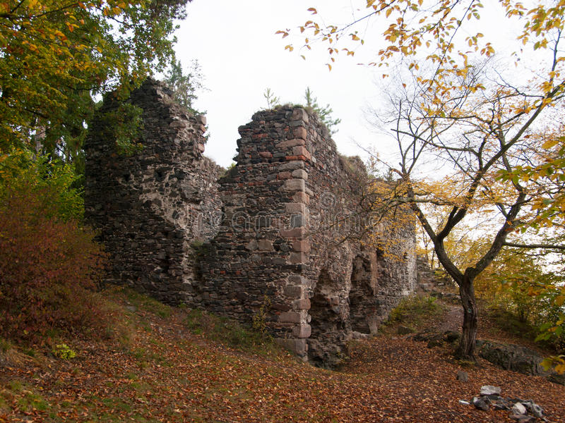 Zboreny Kostrelec城堡,捷克共和国 免版税库存照片