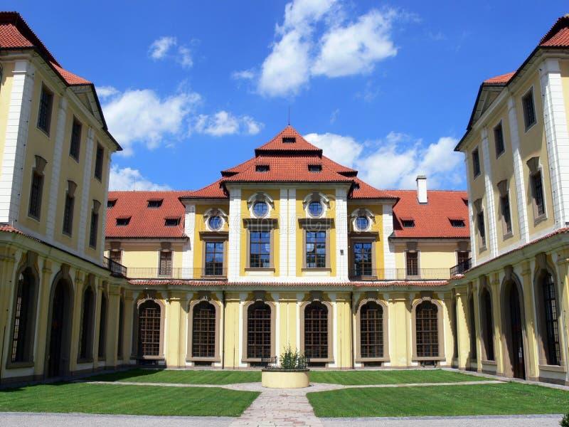 zbraslav замока стоковые изображения rf