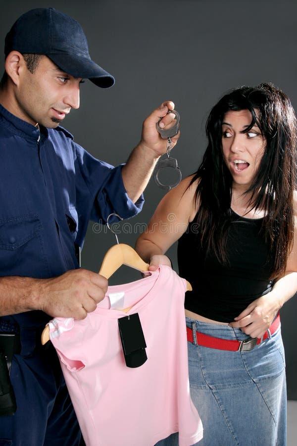 zbrodnie kradzieży w sklepach zdjęcie stock