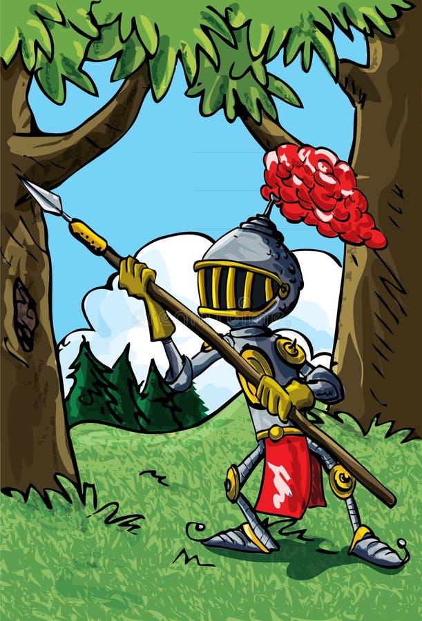 zbroi kreskówki rycerza dzida royalty ilustracja