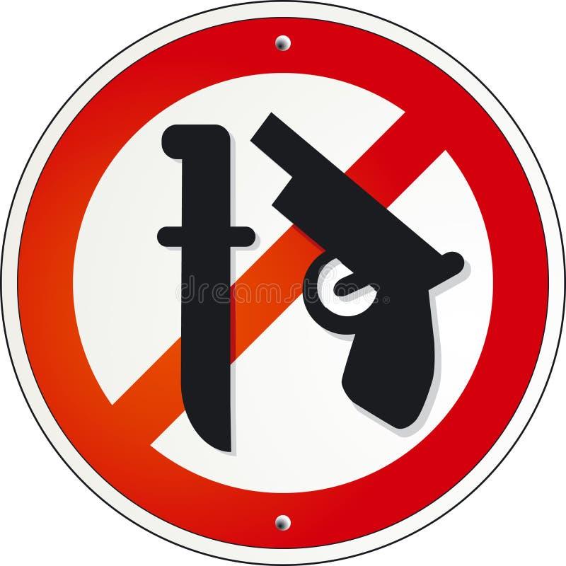 zbroi nie ilustracja wektor