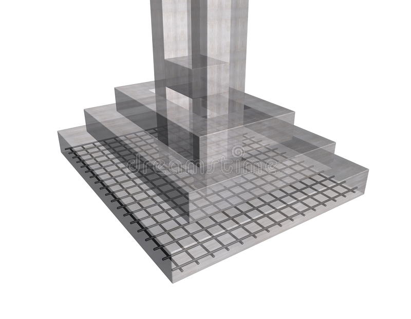 Zbrojona betonowa struktura ilustracja wektor