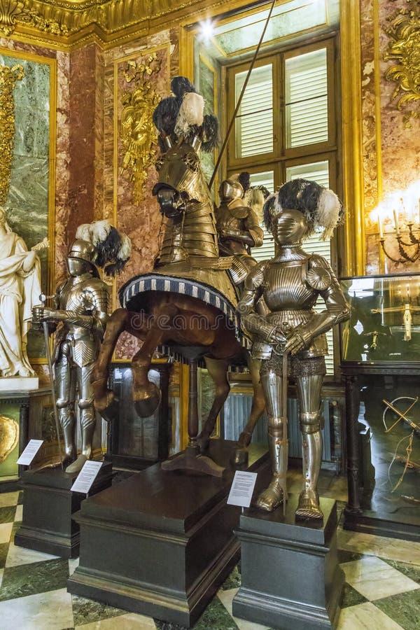 Zbrojowni sala Royal Palace w Turyn zdjęcia stock