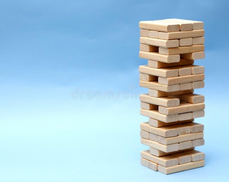 zbudował drewnianego bloków zdjęcie royalty free