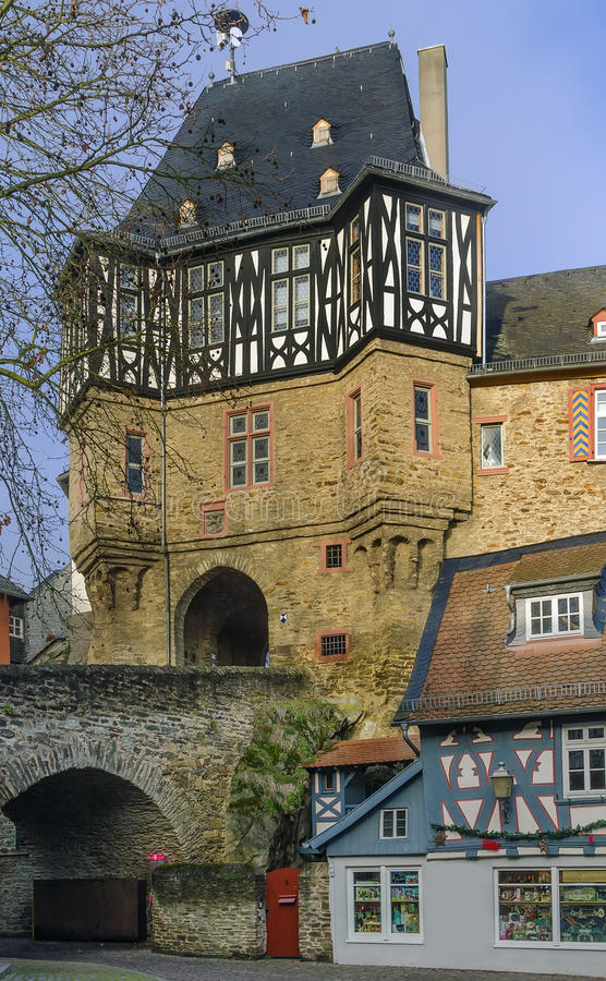 zbudowany około 15 wieku bramy zamku German idstein był obraz royalty free
