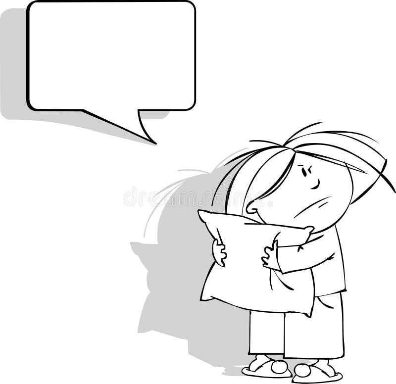 Download Zbudzony dzieciak ilustracja wektor. Obraz złożonej z dziewczyna - 13924853