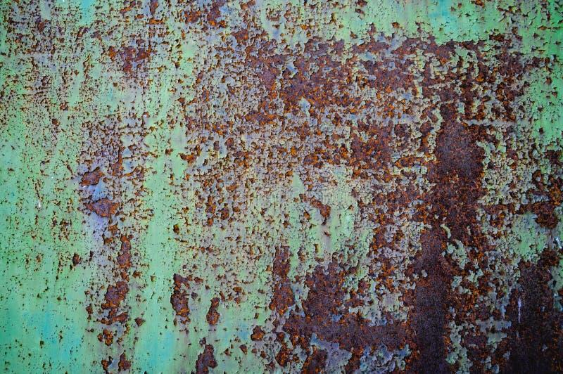 Zbutwiała Ośniedziała metal tekstura zdjęcie stock