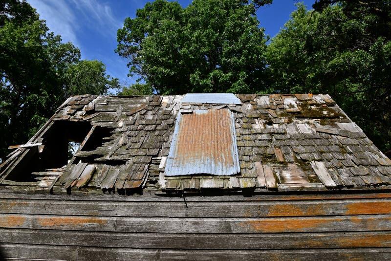Zbutwiały jata dach zdjęcie royalty free