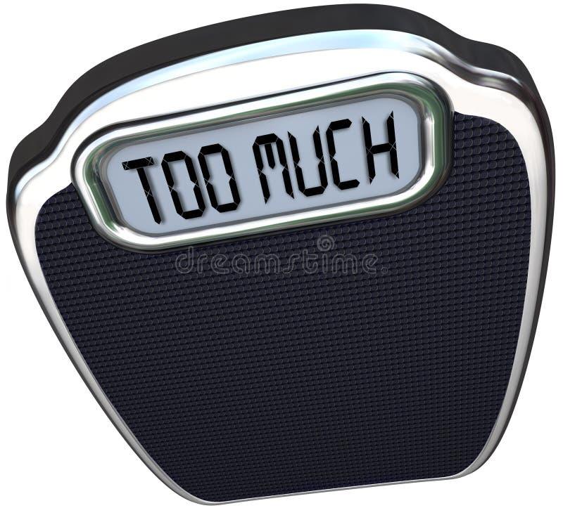 Zbyt dużo słowa na Szalkowej Przesadnej nadwaga ilustracja wektor