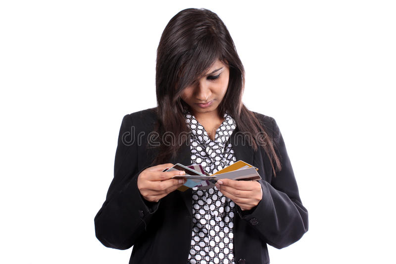 Zbyt Wiele Kredytowe karty fotografia royalty free