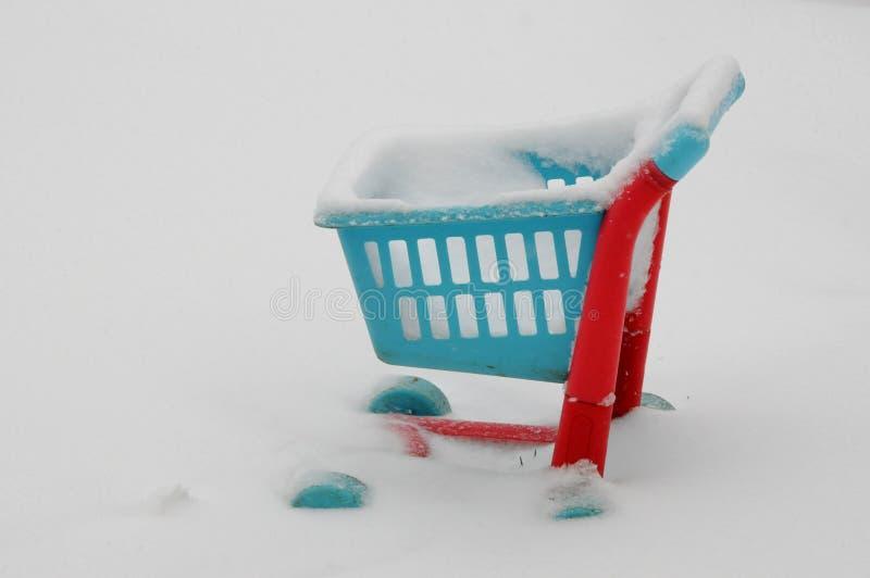 Zbyt zimno dla robić zakupy zdjęcie stock