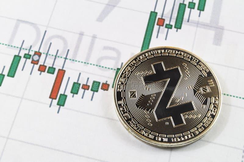 Zcash é uma maneira moderna de troca e desta moeda cripto imagem de stock