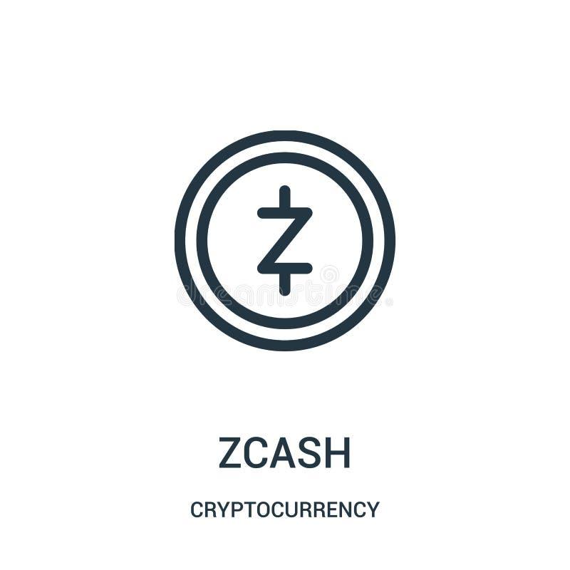 zcash διάνυσμα εικονιδίων από τη συλλογή cryptocurrency Η λεπτή γραμμή zcash περιγράφει τη διανυσματική απεικόνιση εικονιδίων ελεύθερη απεικόνιση δικαιώματος