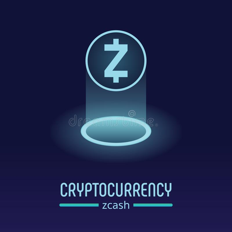 Zcash-blockchain cryptocurrency Logo lizenzfreies stockfoto