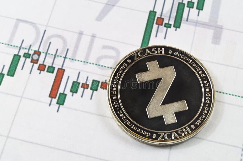 Zcash es una manera moderna de intercambio y de esta moneda crypto foto de archivo libre de regalías