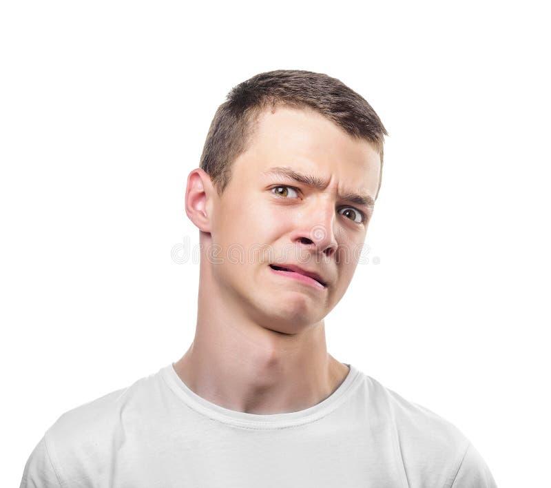 Zdegustowany mężczyzna zdjęcie stock