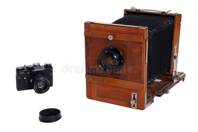 zdjęcia dwóch rocznych kamery fotografia stock
