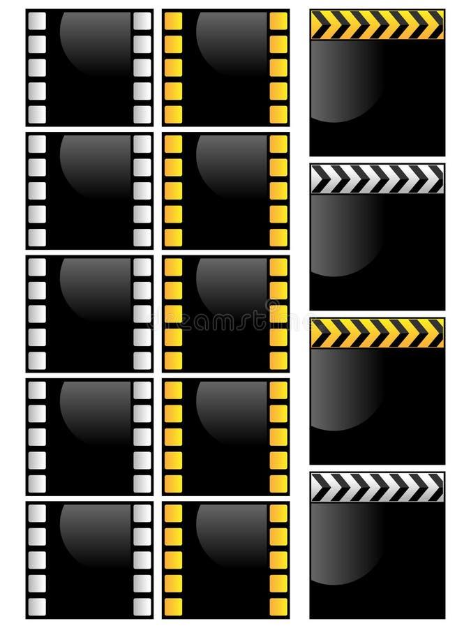 zdjęcia ramowy wideo ilustracji