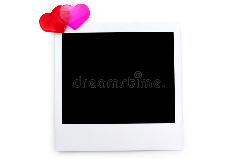 zdjęcie czerwony polaroidu serca zdjęcia royalty free