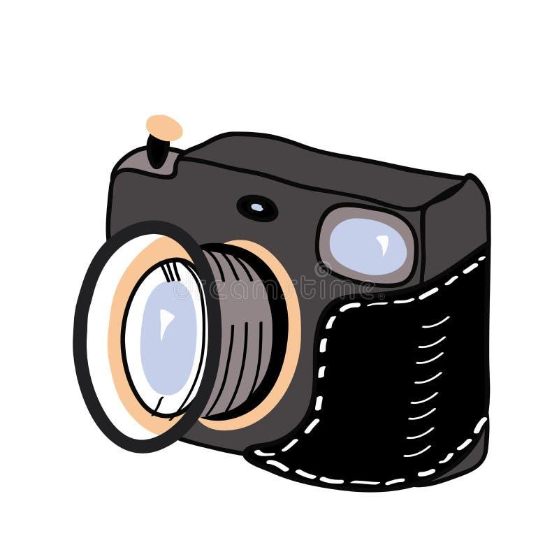 zdjęcie kamery światła Odizolowywająca na biel wektorowa ilustracja ilustracji
