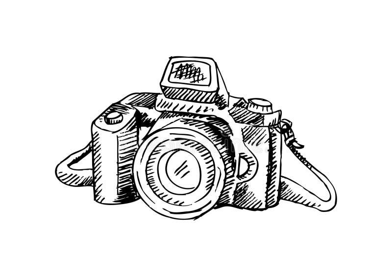zdjęcie kamery światła Ręki rysunkowa ilustracja royalty ilustracja