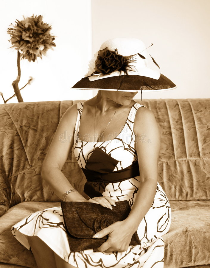 zdjęcie sepiowa kobieta stonowana fotografia stock