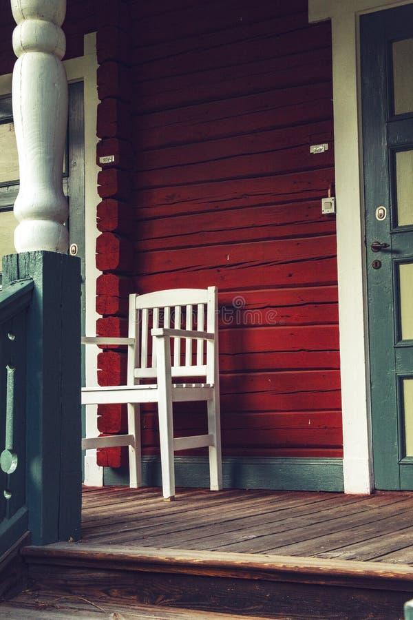 ZdjÄ™cie z ganku bardzo starego szwedzkiego domu fotografia royalty free