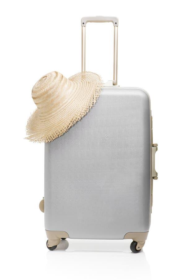 zdojest kapeluszową słomianą podróż fotografia stock