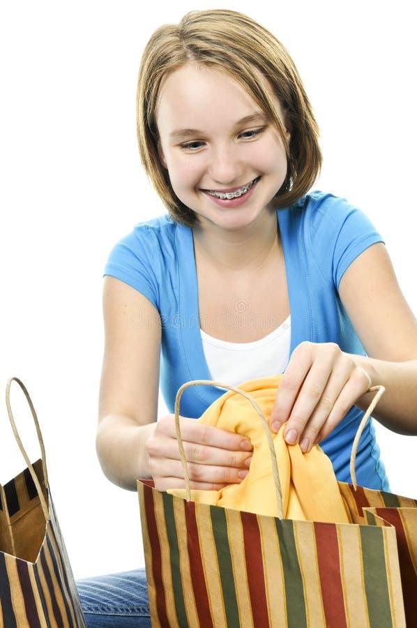 zdojest nastoletniego dziewczyna zakupy fotografia royalty free