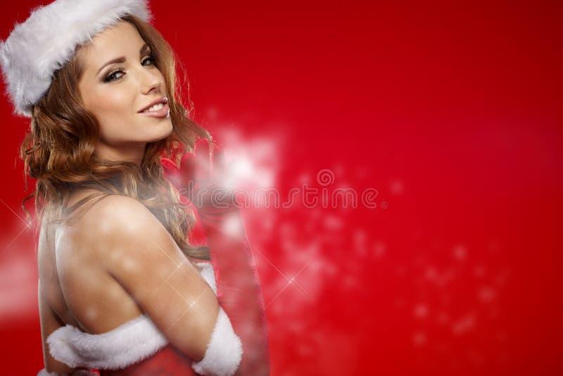 zdojest Santa kobiety obraz stock