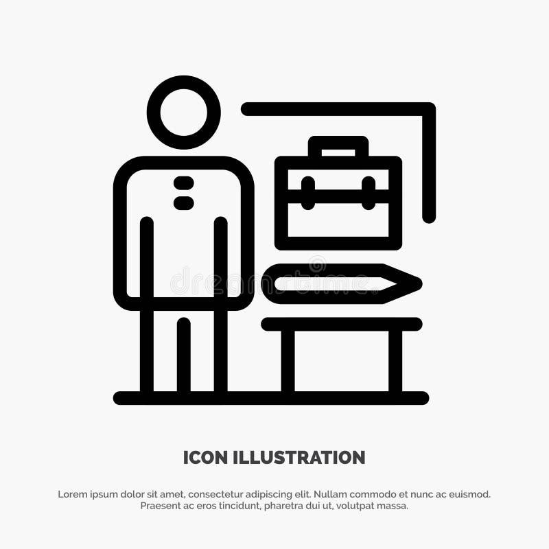 Zdolność, Osiągać, Dokonują, biznesmen ikony Kreskowy wektor royalty ilustracja