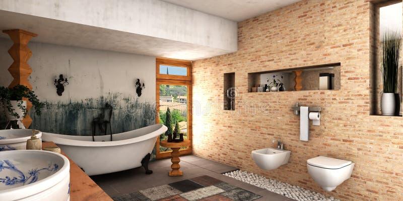 Zdrój łazienka ilustracji