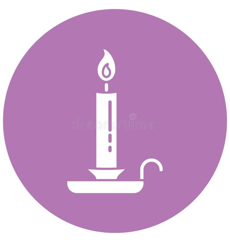 Zdrój świeczka Odizolowywa Wektorową ikonę Editable royalty ilustracja