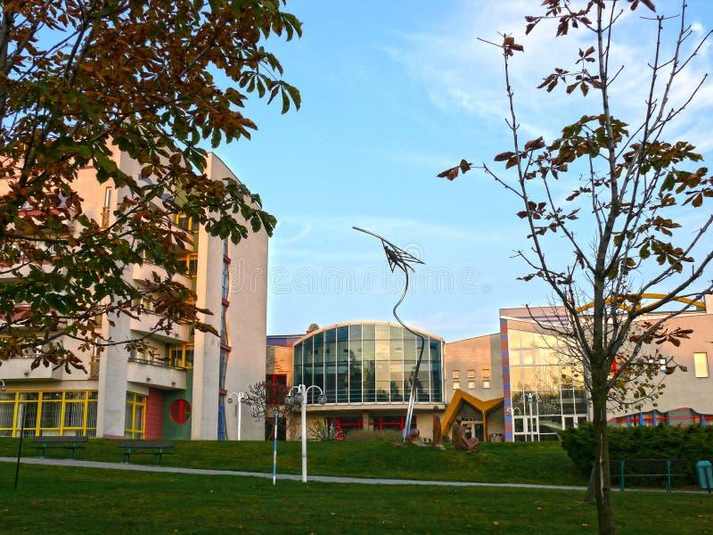 Zdrój Klimkovice - HÃ ½ lov, główny budynek, republika czech obraz royalty free