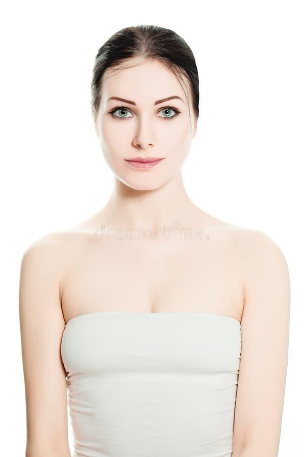Zdrój kobieta na białym tle fotografia royalty free