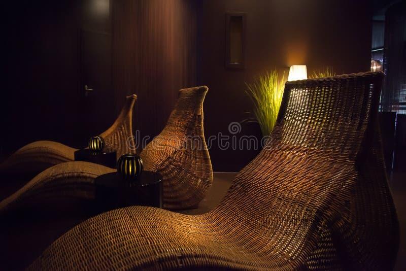 Zdrój relaksuje krzesła fotografia royalty free