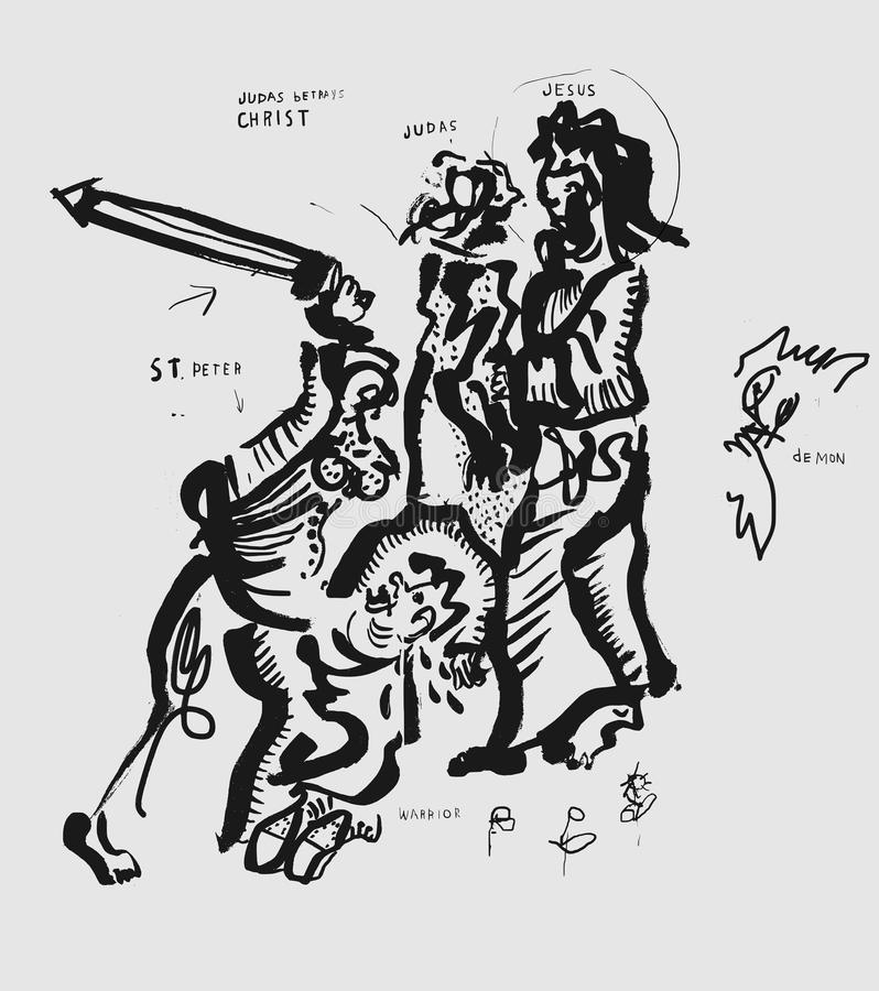Zdrada Chrystus ilustracji