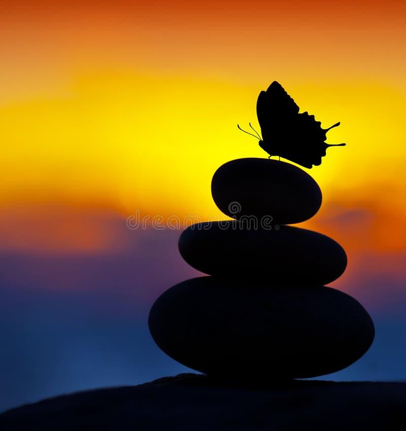 zdrojów balansowi kamienie fotografia stock