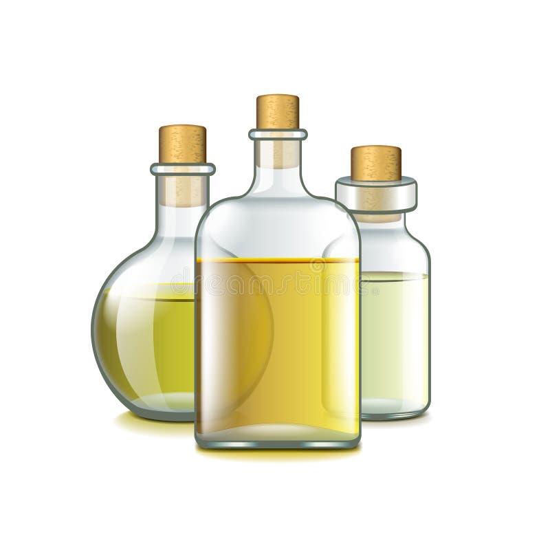 Zdrojów oleje na białym wektorze ilustracji