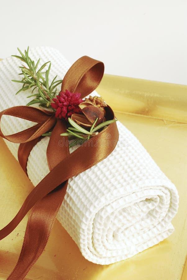 zdrojów ręczników wellness zdjęcie stock