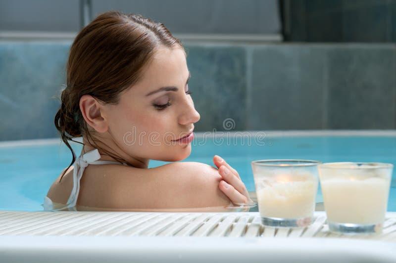 zdroju kąpielowy świetlicowy thermal fotografia stock