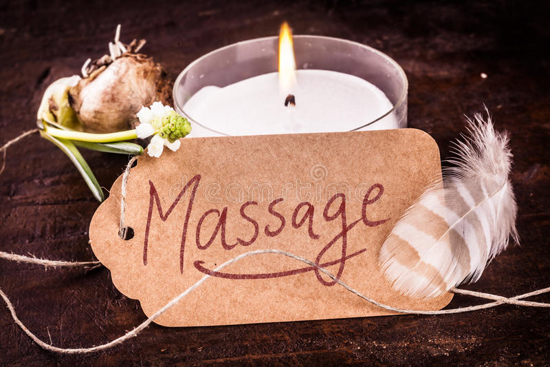Zdroju masażu pojęcie obraz stock