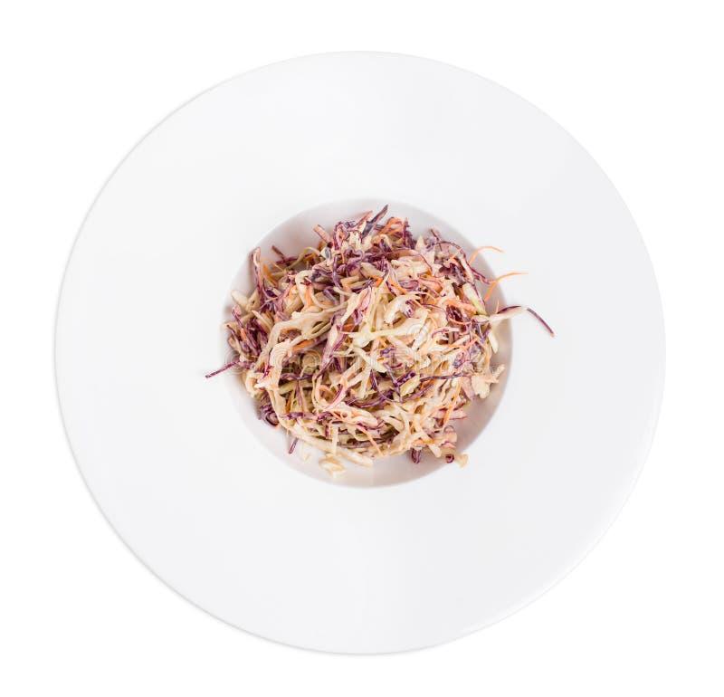 Zdrowa świeża coleslaw sałatka zdjęcie royalty free