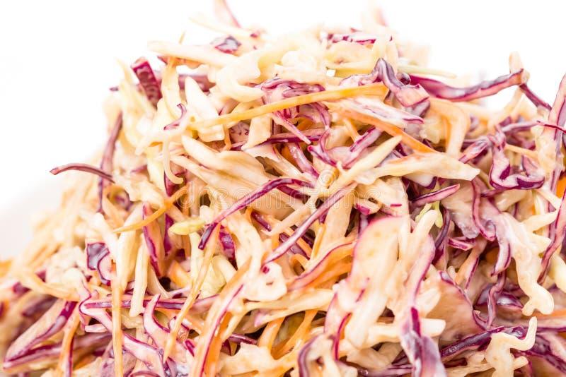 Zdrowa świeża coleslaw sałatka zdjęcie stock