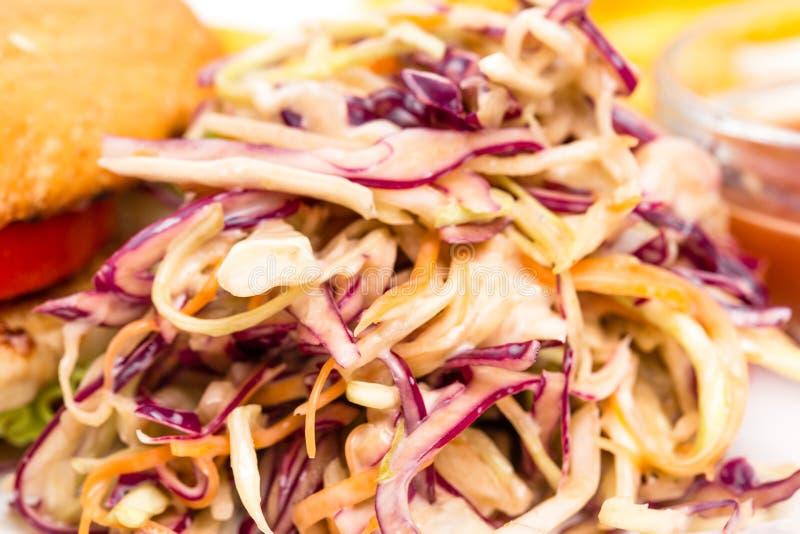 Zdrowa świeża coleslaw sałatka fotografia royalty free
