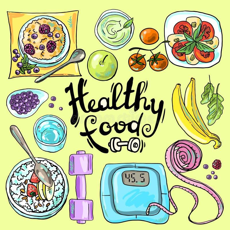 zdrowa żywność royalty ilustracja