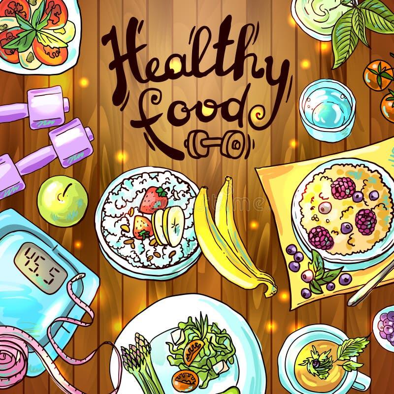 zdrowa żywność ilustracja wektor