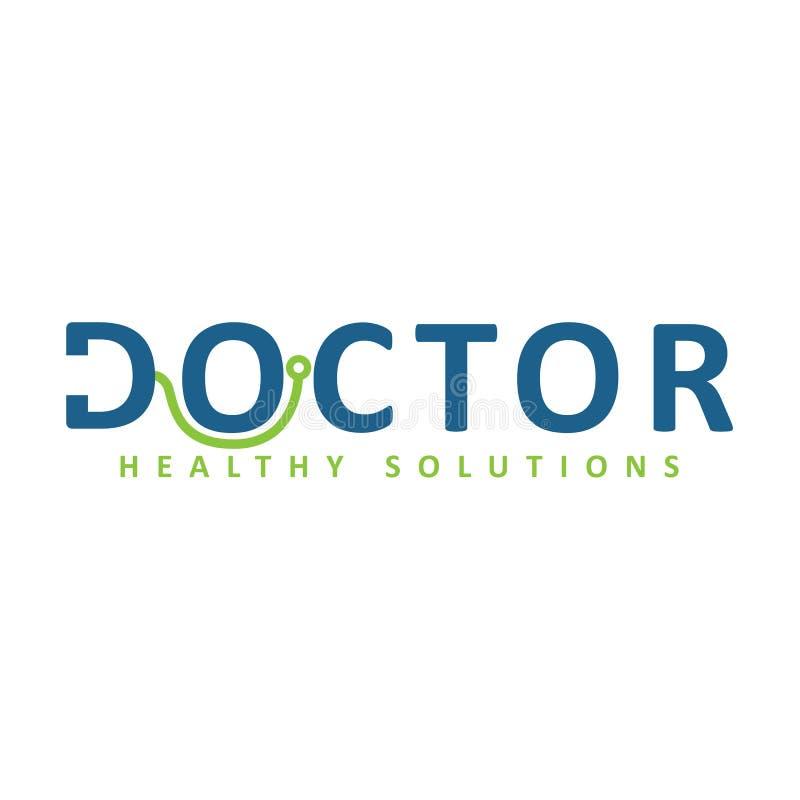 Zdrowa Doktorska logo ikona zdjęcia stock