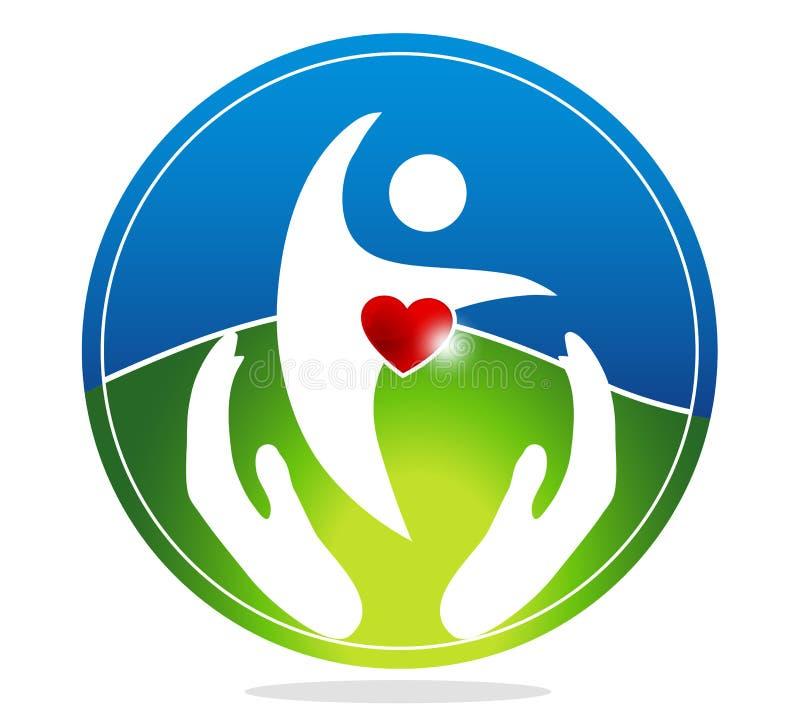Zdrowa istota ludzka i zdrowy serce royalty ilustracja